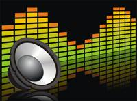 Speaker with audio