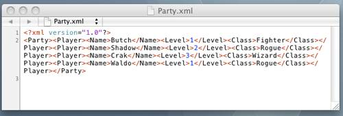 Screenshot of our Modified XML