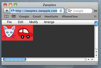 Zwoptex Screenshot with Finished Spritesheet
