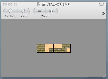 Screenshot of our tiles viewed with PIL