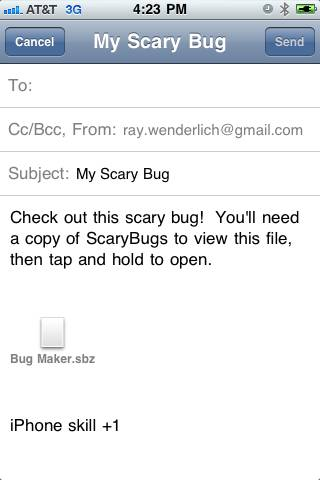 Emailing Bug