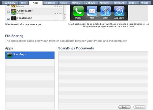 File Sharing with Empty Document List