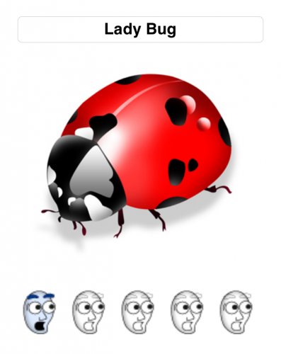Apparently this Lady Bug isn't very scary!