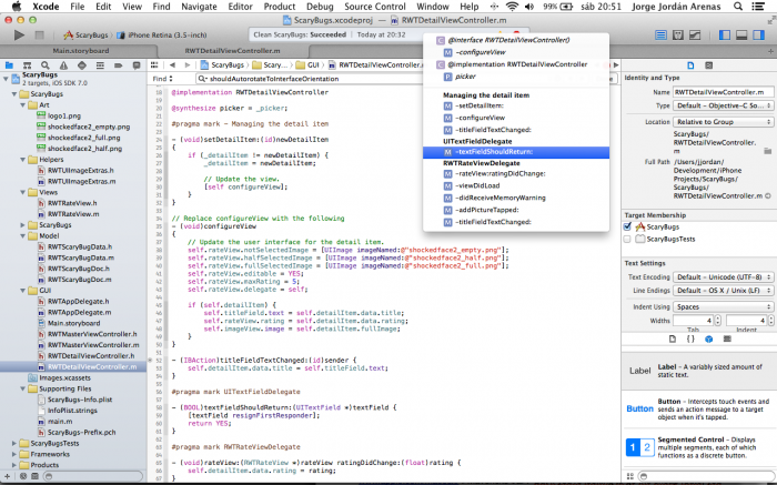 Using pragma mark to organize code in Xcode