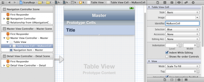 Setting cell style and reuse identifier