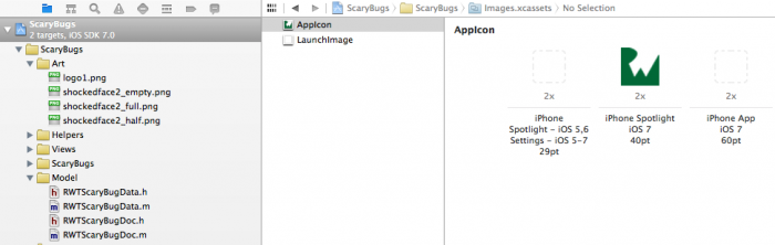 Changing the icon for an app in Xcode