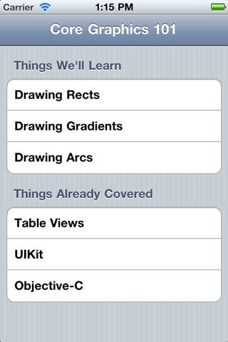 Table View with Grouped Style