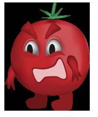 Tomato-San is angry!