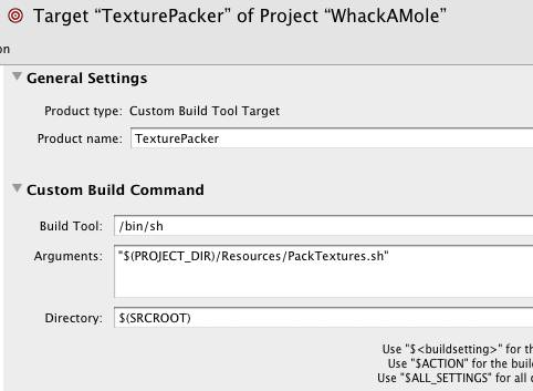Texture Packer Target Settings