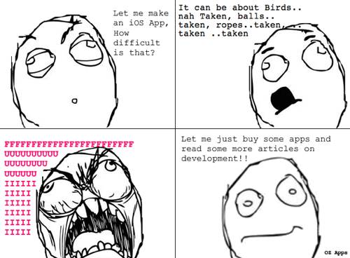 Coming Up With An iOS App Idea Rage Comic by Jayant Varma
