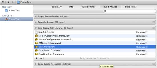 Framework Dependencies in Xcode 4