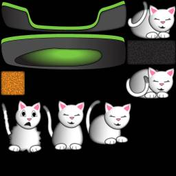 Sprite sheet for Cat Nap Minigame