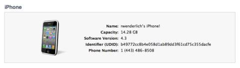 How to find a device's UDID in iTunes