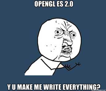 Open GL ES 2.0 - Y U Make Me Write Everything?