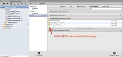 Add GHUnit framework