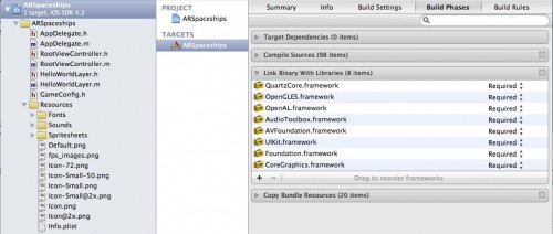 Adding CoreMotion to Link Binary with Libraries step in Xcode 4
