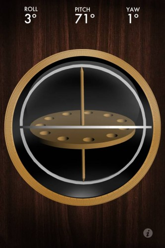 Free gyroscope app on iTunes App Store