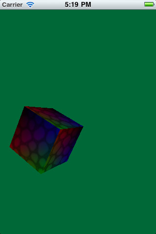 A beautiful textured cube made with OpenGL ES 2.0
