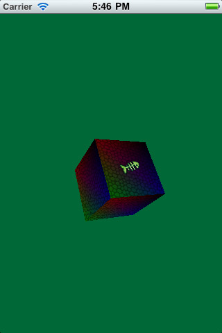 A textured cube with OpenGL ES 2.0
