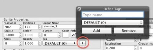Creating a tag in LevelHelper