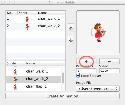 Creating an animation with LevelHelper