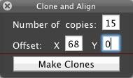 LevelHelper Clone and Align dialog