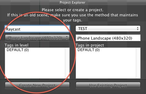 Creating a new project in LevelHelper