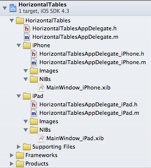 Organizing files into groups in Xcode