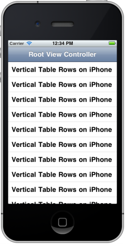 Finally - our vertical table view working!