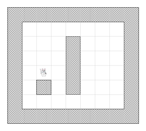 Dividing the maze into a tile-based search area