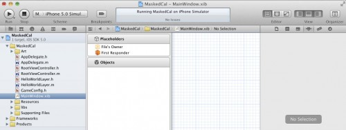 An empty XIB created with Xcode