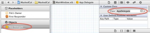 Setting the Application Delegate