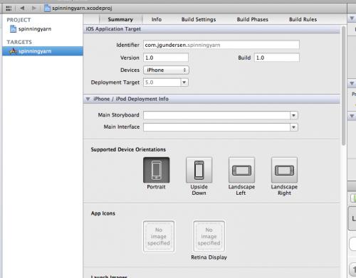 Setting the bundle identifier in Xcode