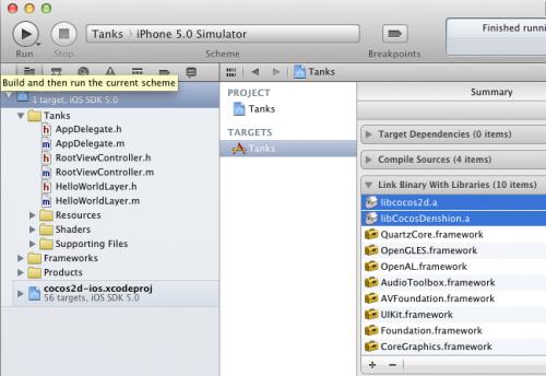 Linking Cocos2D libs