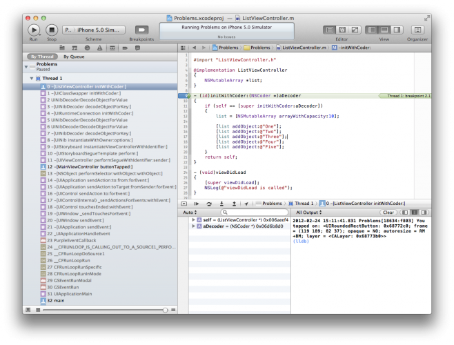 The debugger is paused on the breakpoint.