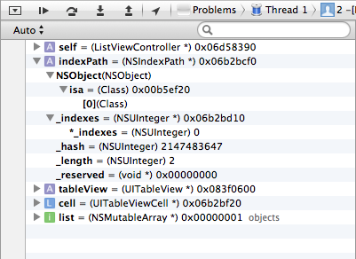 The debugger shows the content of your variables.