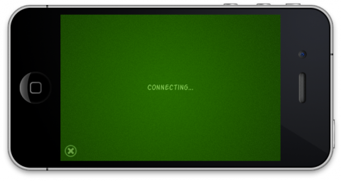 The Connecting... screen