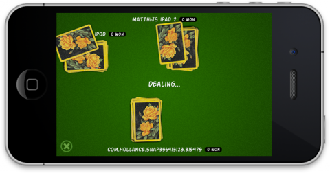 The cards dealing animation
