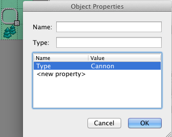 Object properties in Tiled