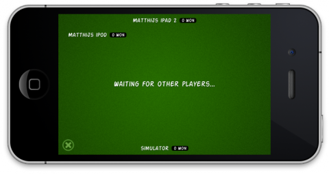 The player labels on the game screen