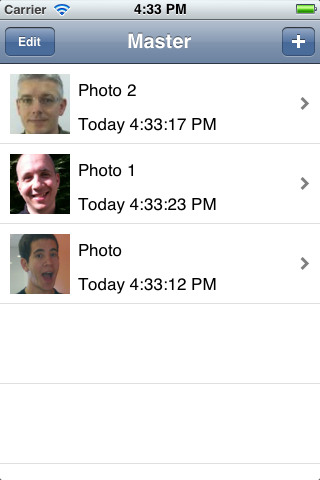 Setting the photos in PhotoKeeper