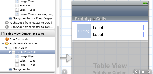 Laying out a table view cell for conflicts