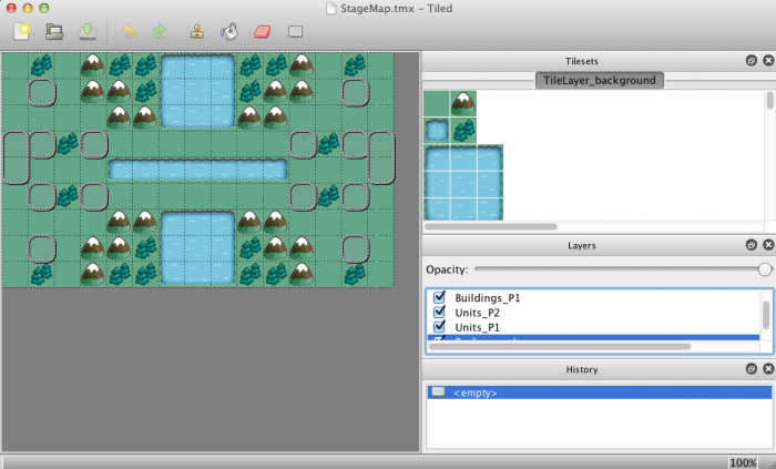 Viewing the Tile Map in Tiled
