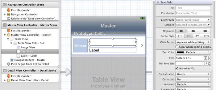 Modifying UITextField settings