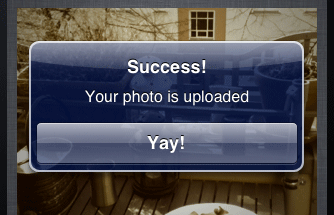 The photo has been successfuly uploaded
