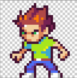 Learn pixel art by making this cool game character!