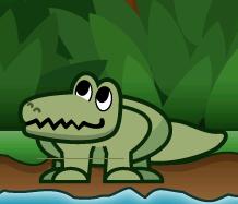 This crocodile wants food!
