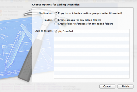 Adding Graphics to Xcode project