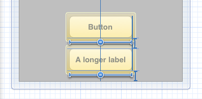 Buttons widths equally