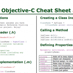 Objective-C Cheat Sheet Fully Updated!